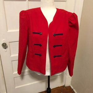 Vintage Red and Navy Blazer